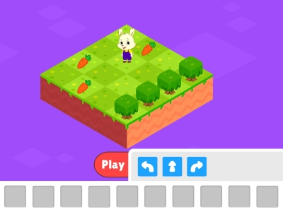 Carrot Chase Functions Coding Games For kids