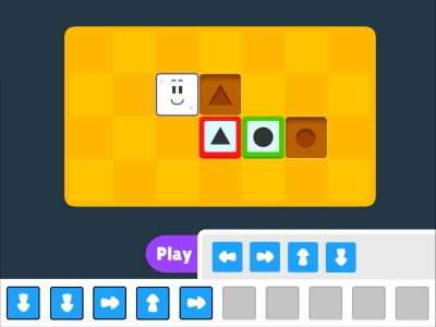 Push The Block Functions Coding Games For kids