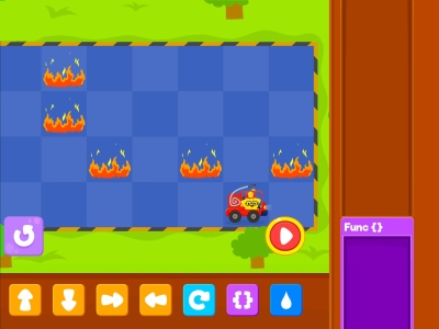 Little Fire Truck Advance Coding Games For kids