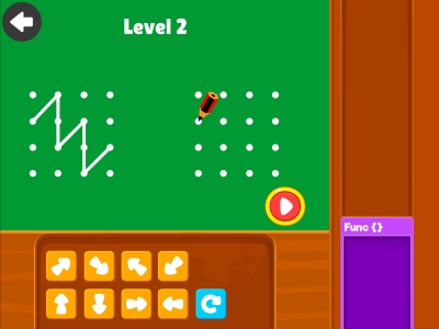 Connect Diagonally  Loops - Coding Games For kids