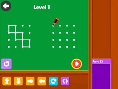 Connect The Dots  Advance - Coding Games For kids
