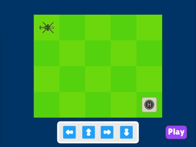 Helicopter Landing  Coding Games For kids