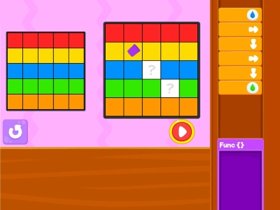 Paint The Squares  Debugging - Coding Games For kids