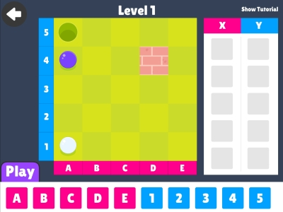 Co-ordinates Coding games For Kids