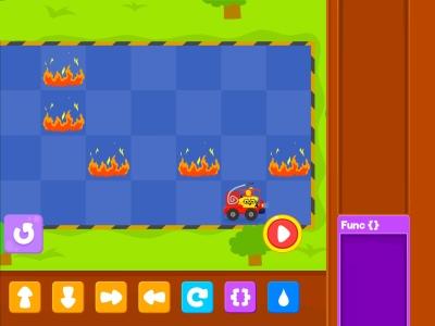 Little Fire Truck  Advance - Coding Games For kids