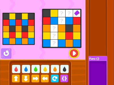 Paint The Squares  Advance - Coding Games For kids