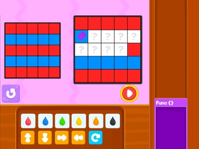 Paint The Squares  Loops - Coding Games For kids